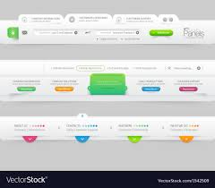 Infographic Website Template Business Website Template Infographic Design Menu Vector Image