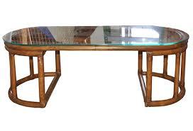 Coffee Table Rattan Vintage Rattan Bent Reed Bamboo Coffee Table Omero Home