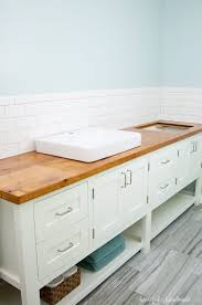 to build protect a wood vanity top
