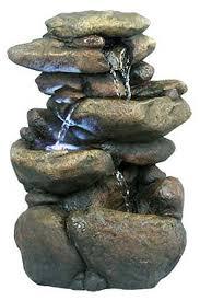 win472 three tier river rock fountain