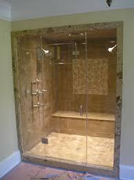 2 custom frameless steam shower doors northern va
