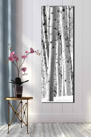 stylish and peaceful tall wall art best interior 20x60 inch black white snow aspen photograph vertical on long narrow vertical wall art uk with tall wall art alcove fo