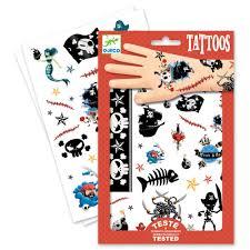 набор детских татуировок пираты