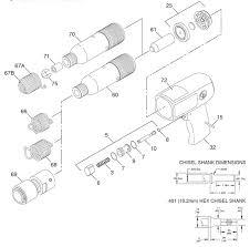 chicago pneumatic cp711 air hammer repair parts