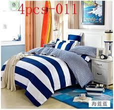 um image for dark blue duvet covers navy blue white stripe 4pcs bedding sets king queen