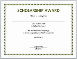 Scholarship Certificate Template For Word Free Printable Blank Award Certificate Templates Mult Igry Com