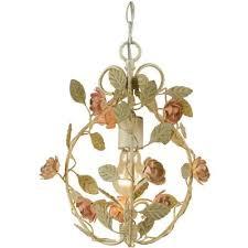 af lighting ramblinrose mini chandelier 1 60w candle bulb 13 hx10 w swag or hardwire
