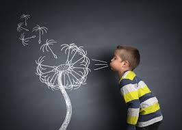 creative photography boy chalk dandelion creative  creative photography boy chalk dandelion
