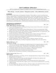 Administration Manager Job Description Template Admin Profile Resume