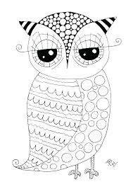 Artistic Cute Coloring Pages Of Owls E5263 Superb Printable Coloring