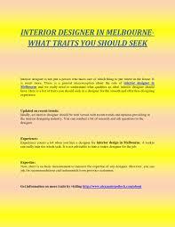 Seek Interior Design Jobs Interior Designer In Melbourne What Traits You Should Seek