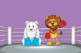 Image result for fight between a polar bear and a lion