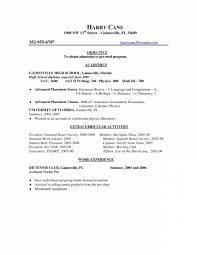 Extracurricular Activities Resume Template Saneme