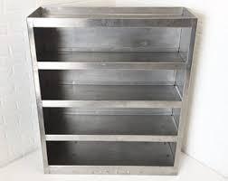 vintage factory furniture. Stainless Steel Industrial Bookcase, Vintage Factory Storage Cart, Mid Century Metal Furniture R