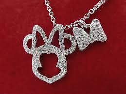 swarovski swarovski necklace minnie mouse pendant necklace