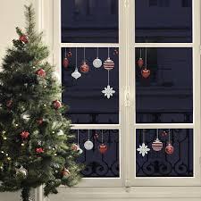 Fenster Sticker Christbaumschmuck Rot