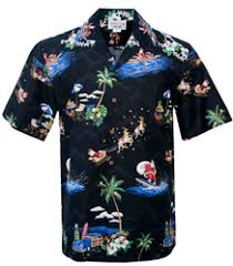 Hawaiian Style Christmas Shirts for Men