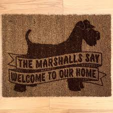 personalised dog breed doormat with schnauzer by well bred design ...