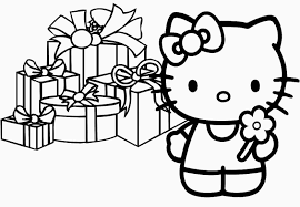 Hello kitty s birthday cake30b0. Hello Kitty Holiday Coloring Pages