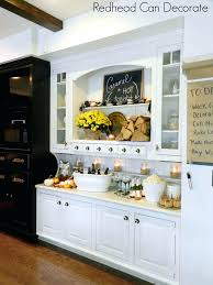 rustic fall hutch built in kitchen ideas cabinet makeover built in kitchen hutch