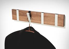 Love the modern angle of these hooks - FourHook Modern Coat Rack Mid  Century by andrewsreclaimed
