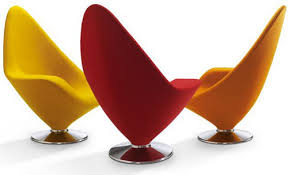 bright colored furniture. bright colored side chairs left armrest by erik magnussen furniture