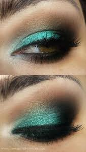 great turquoise green eye make makes my brown eyes looks a little green