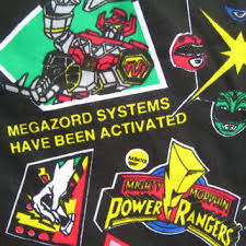 Vintage Mighty Morphin Power Rangers Fabric By The Quarter Yard 9 X 60 Inch  Child Kids