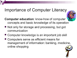 uses of computers in education importance of computer literacycomputer education