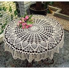new beige 36 round handmade crochet sunflower lace table cloth doily n06 xelcnpahi