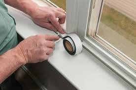 adhesive backed foam weatherstripping is easy to cut with a sharp knife