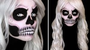 glam skull makeup tutorial