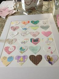 transform baby shower cards into wall art