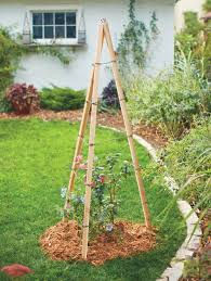 how to make a tripod trellis easy diy trellises planters and raised beds