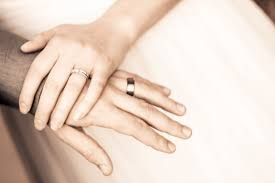 Image result for couple holding hands rings