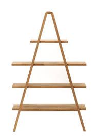 Creative Shelf Creative A Shaped Decorative Shelving Unit Design With Wooden