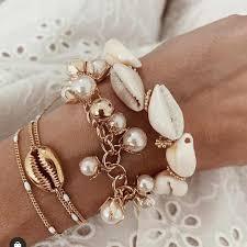 Boho <b>Beads</b> Fashion Multi layer Gold Color long Conch <b>Shell</b> ...