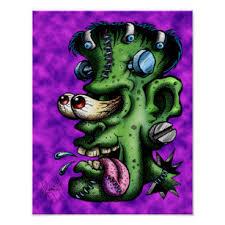 Cartoon Frankenstein Art & Wall Décor   Zazzle