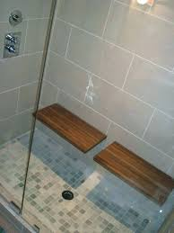 shower pan with bench seat bathroom design teak benches contemporary collapsible folding kohler base shower pan