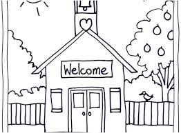 coloring pages of school welcome to school coloring page back to school coloring pages free picture
