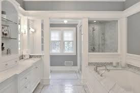 Spa-Like Master Bathroom Boasts Gray and White Palette