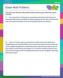 Easter Math Problems - Free 4th Grade Math Problems - JumpStart