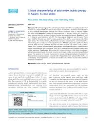 Clinical Characteristics Of Adult Onset Actinic Prurigo In
