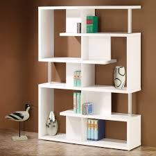 Contemporary Shelves decorations white wooden bookshelves with double slots made 5321 by xevi.us