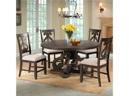 Elements International Stone Round Pedestal Table And Chair Set