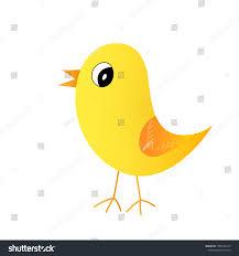 Yellow Bird Design Fashion Animal Illustration Yellow Bird On Stock Vector
