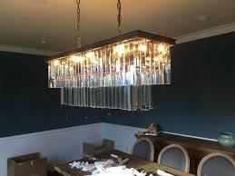 odeon glass fringe rectangular chandelier hardware glass fringe chandelier w retro odeon glass fringe rectangular chandelier
