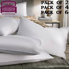 luxury duck feather pillows comfortable hotel quality pillow pack of 2 4 6 uk