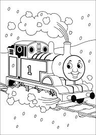 Kleurplaat Thomas De Trein Ook Met Sneeuw Is Het Leuk Om Met De