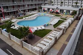 a view of the pool at hershey motel or nearby